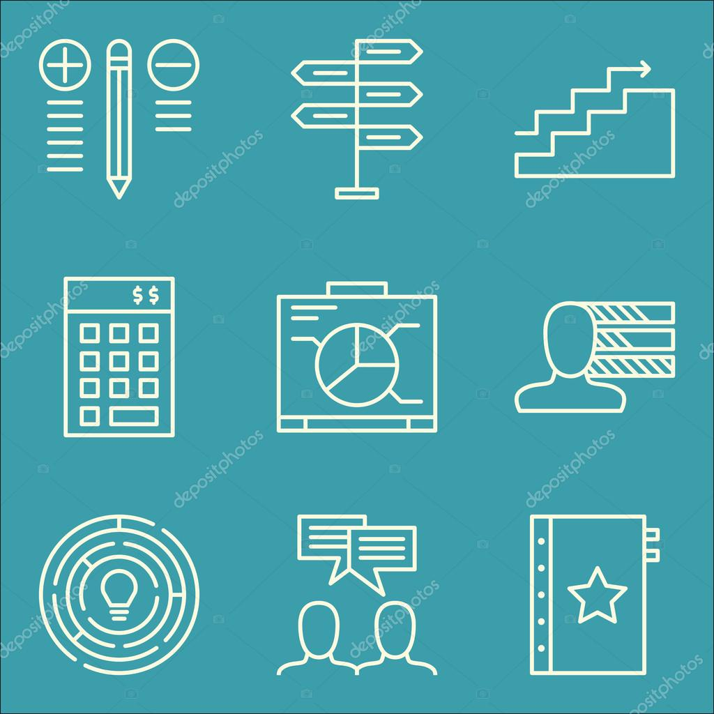 Set of project management icons on graph quality management set of project management icons on graph quality management investment and more premium quality eps10 vector illustration for mobile app ui design ccuart Gallery