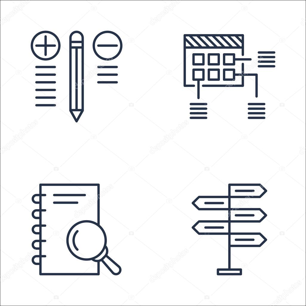 Set Of Project Management Icons On Best Solution Research Decision Making And More Premium Quality Eps10 Vector Illustration For Mobile App Ui Design Stock Vector C Aalbedouin Gmail Com 124037924