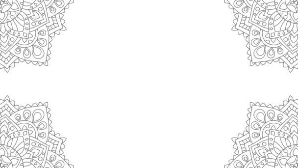Abstraktní ornamentální kulatý vzor, mandala. Stock Animation. Fascinující mandala pozadí.