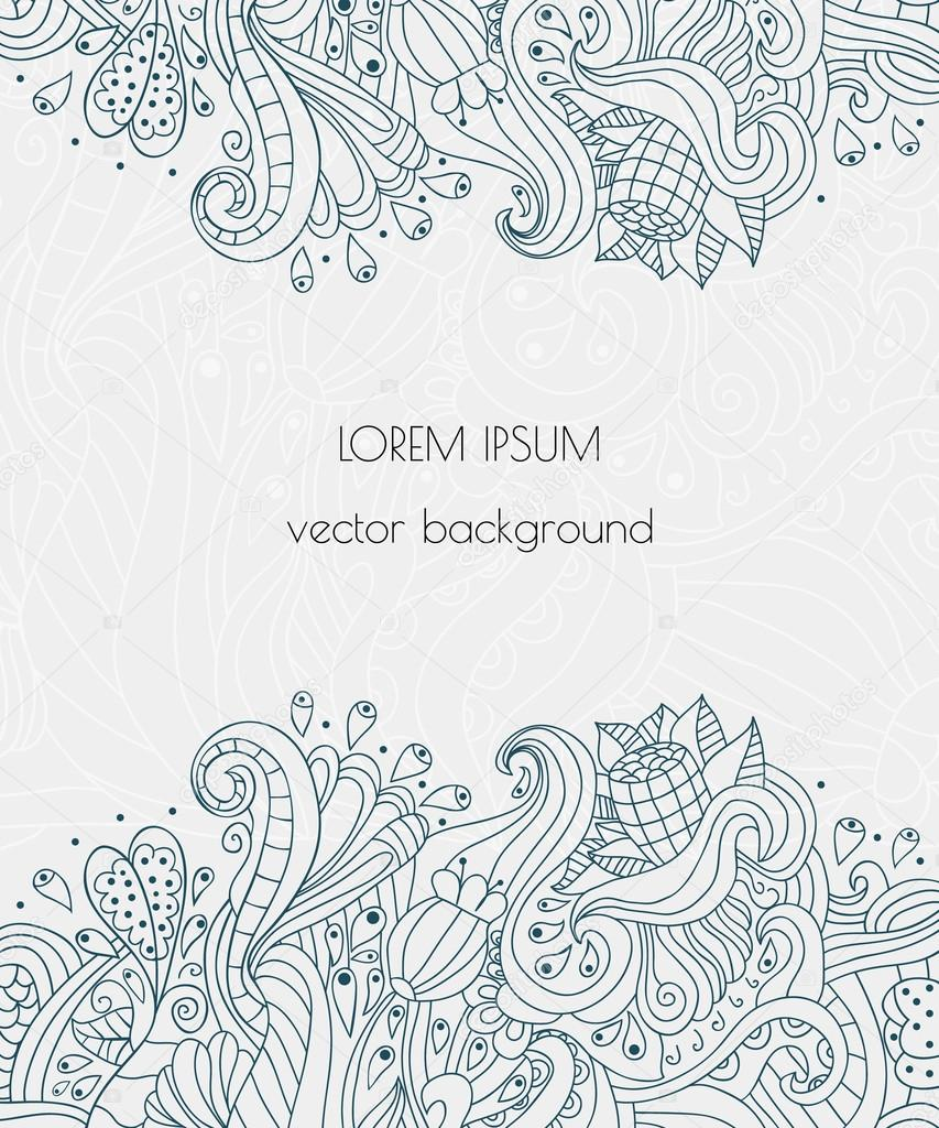 Hand drawn floral design vector elements with text place for vector elements with text place for invitations and cards henna stopboris Gallery