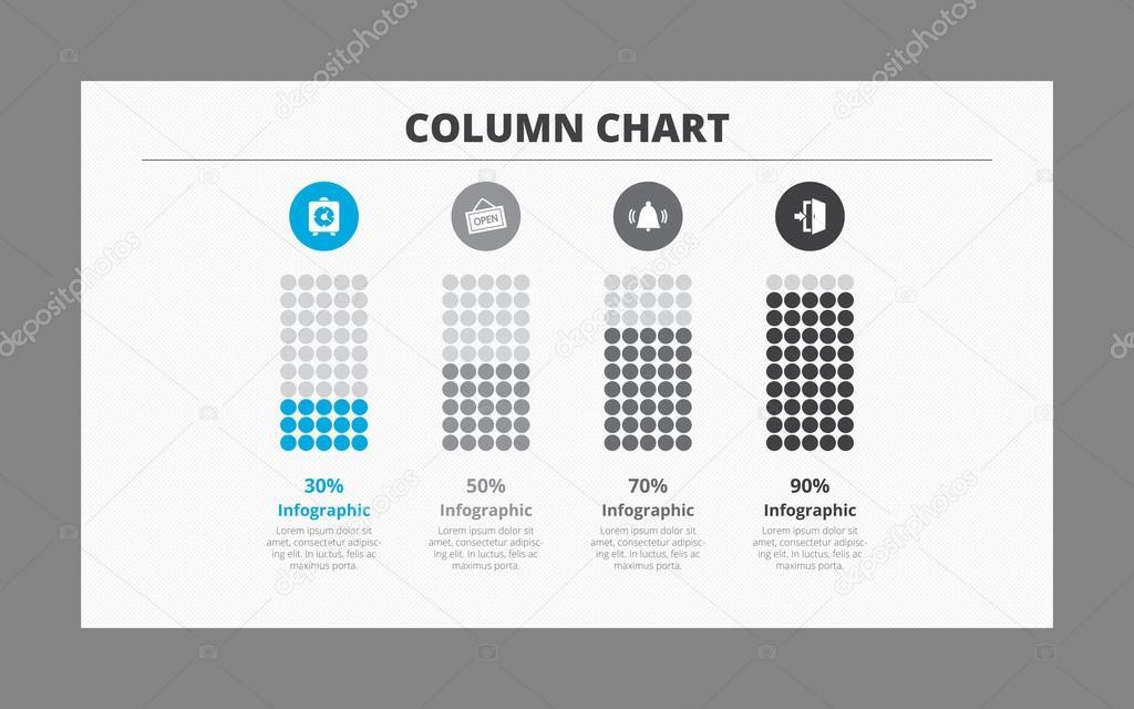 Four Column Chart Template Stock Vector Surfsupctorail