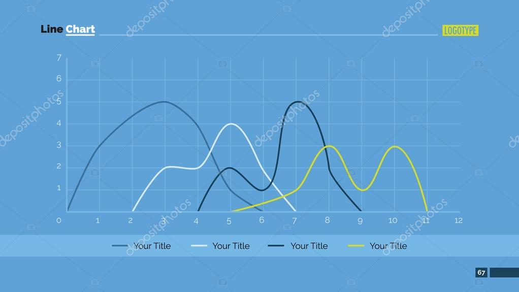 Slide de grfico de linha vetores de stock surfsupctorail template editvel para slide de apresentao do powerpoint que representa o grfico de linhas com quatro curvas vetor de surfsupctorail ccuart Images