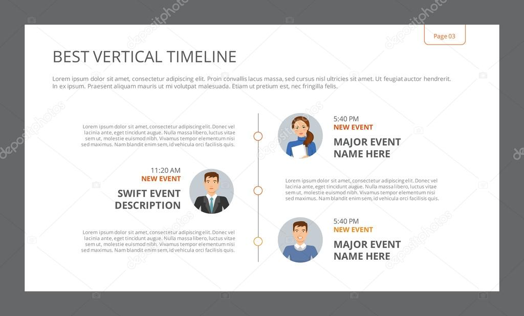best vertical timeline template stock vector surfsup vector