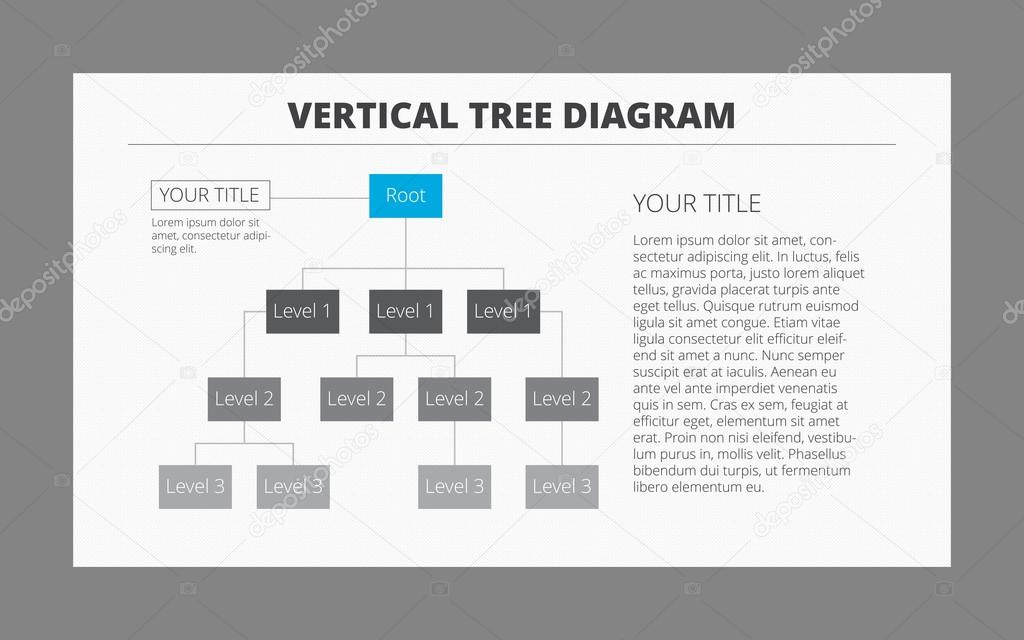 Vertical Tree Diagram Template   Stock Vector  SurfsupVector
