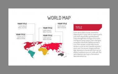 World map template 4