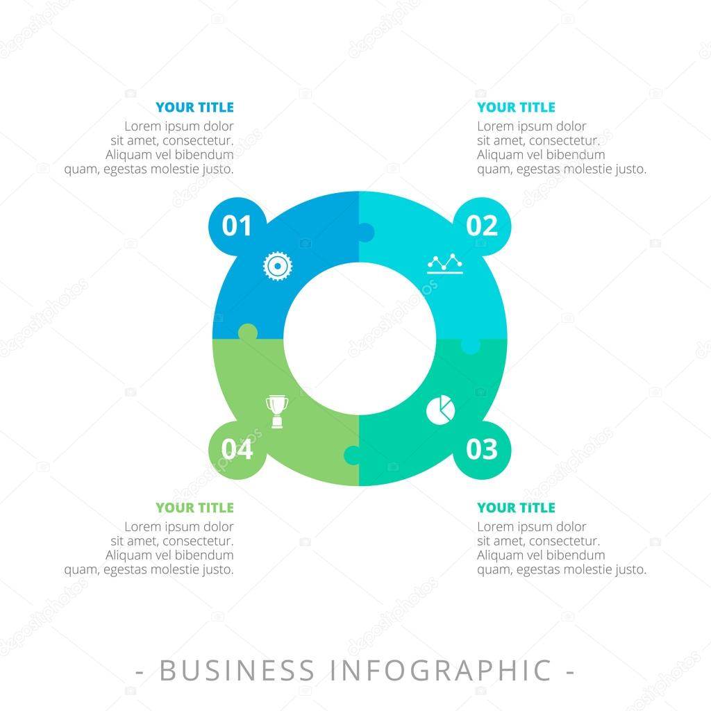 Four Step Process Diagram Template — Stock Vector © surfsup.vector ...