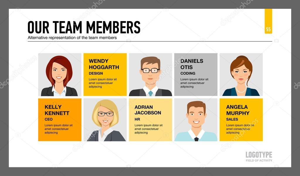 Diapositive de présentation membres de l'équipe 1 — Image ...