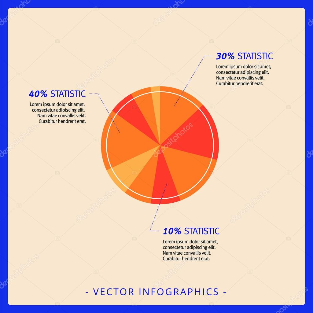pie chart template 1 stock vector surfsup vector gmail com