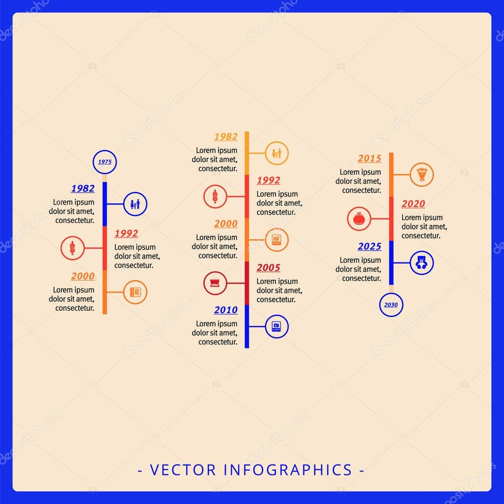 Vertical Timeline Diagram Template Stock Vector C Surfsup Vector