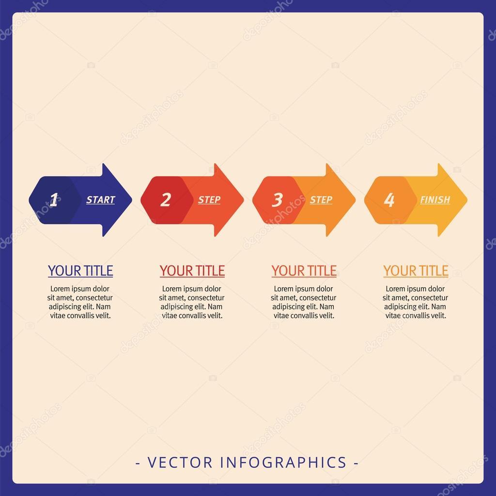 Prozess-Pfeil-Diagramm-Vorlage — Stockvektor © surfsup.vector.gmail ...