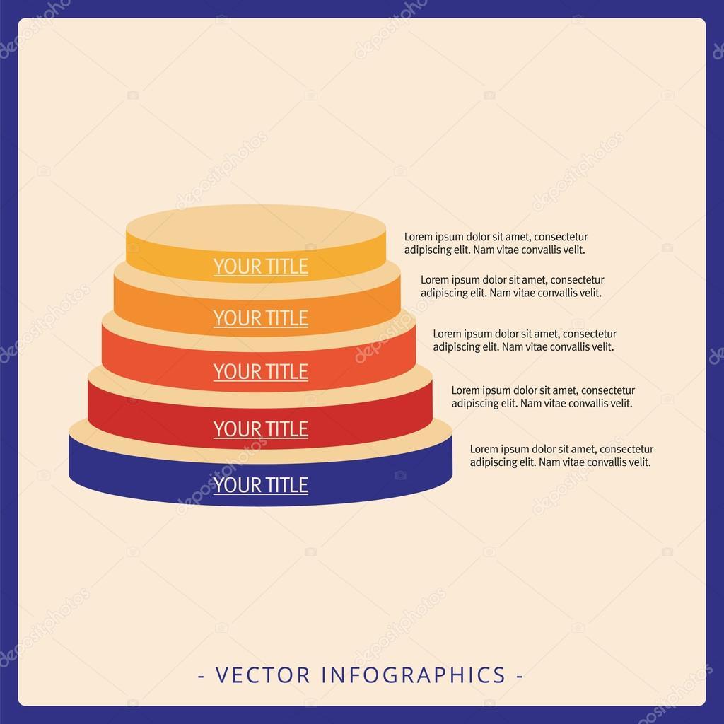 Stacked Pyramid Chart Template 2 Stock Vector Surfsupvector Diagram