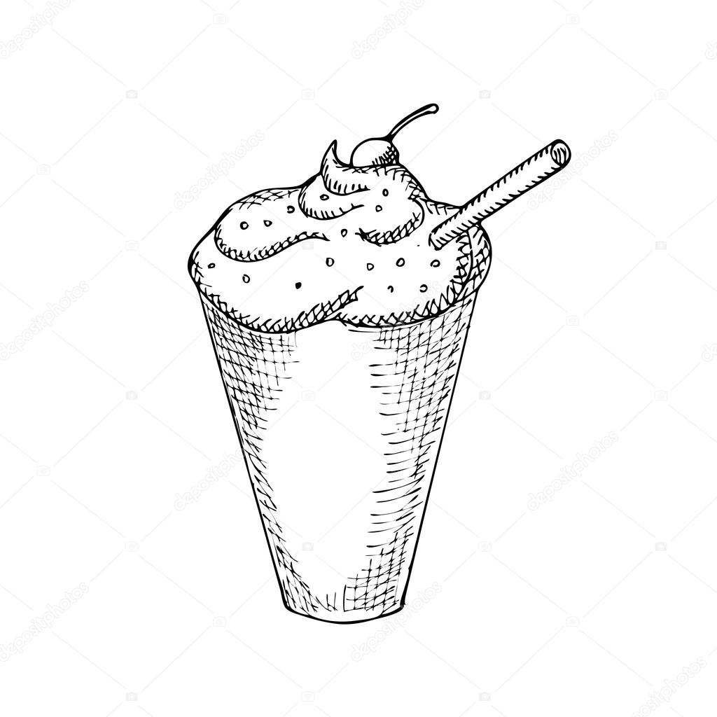 Iced Coffee Illustration