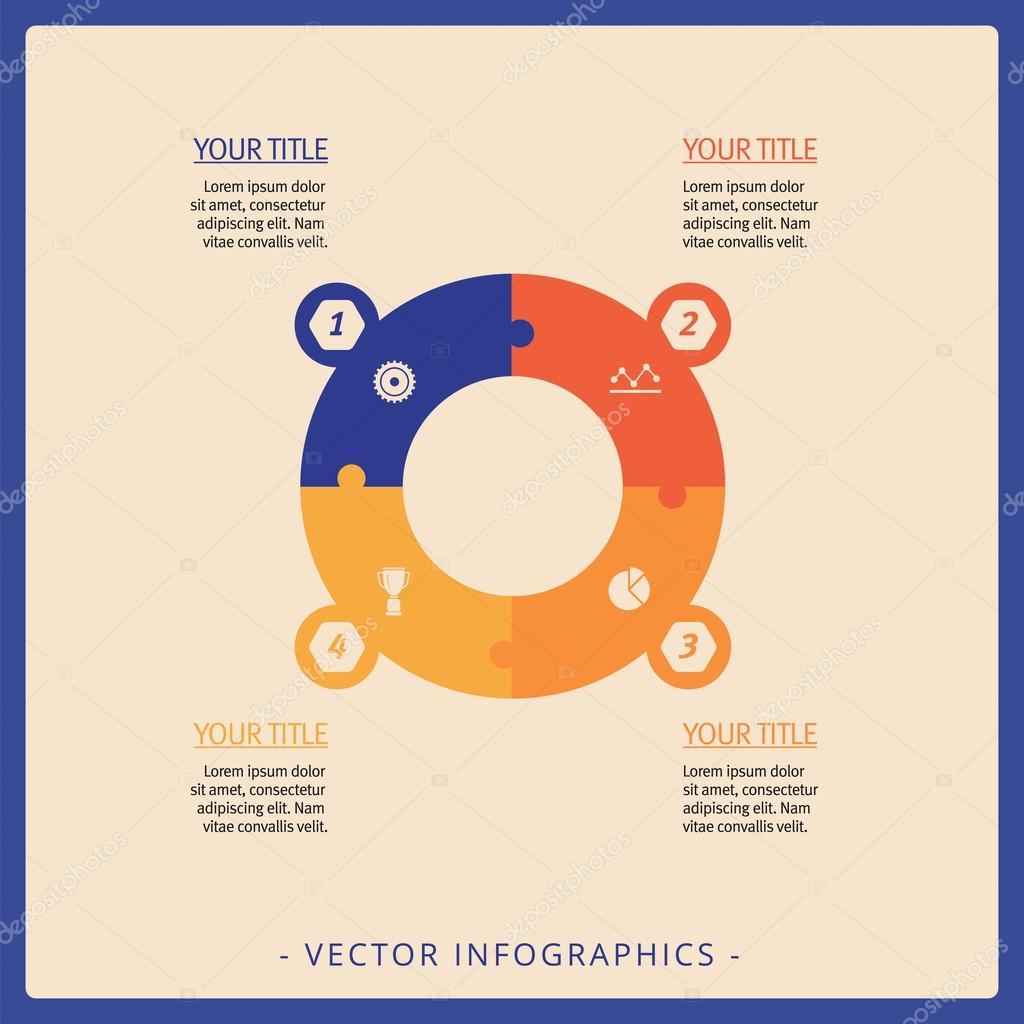 Kreis-Prozess-Diagramm-Vorlage — Stockvektor © surfsup.vector.gmail ...