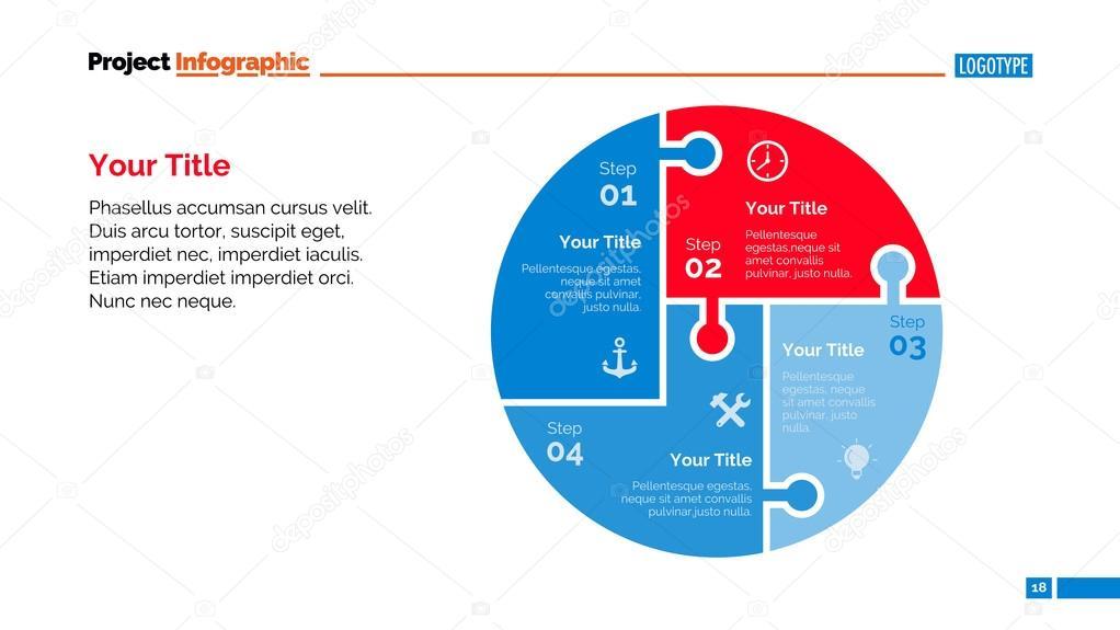 プロセス グラフ スライド テンプレート ストックベクター surfsup
