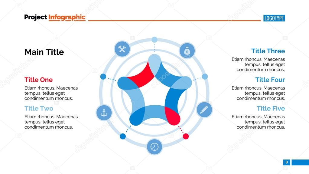 Star in circle diagram slide template vetor de stock surfsup star in circle diagram slide template vetor de stock ccuart Images