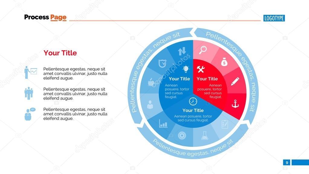 pie diagram slide template ストックベクター surfsup vector gmail