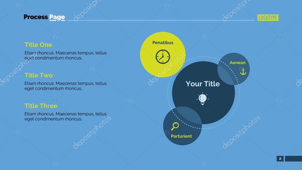 Three parts venn diagram slide template vetor de stock surfsup three parts venn diagram element of presentation layout diagram concept for business template infographics report can be used for topics like ccuart Images