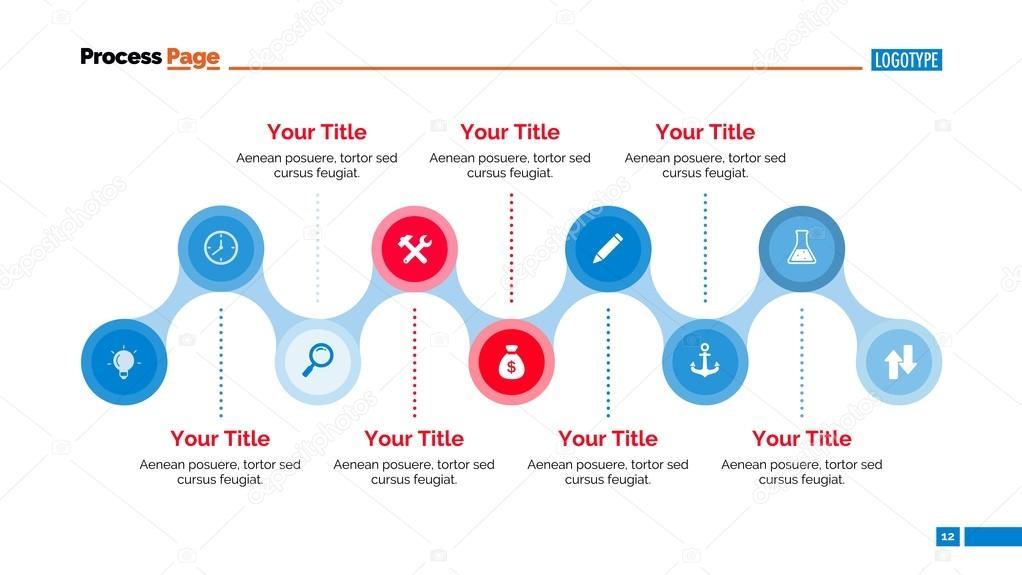 Timeline Diagram Slide Template Stock Vector Surfsupctor