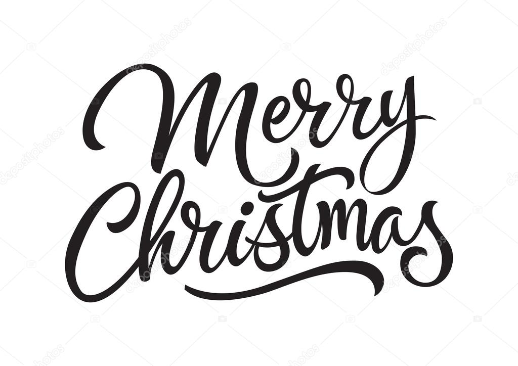 Merry Christmas Lettering.Merry Christmas Lettering 2 Stock Vector C Surfsup Vector