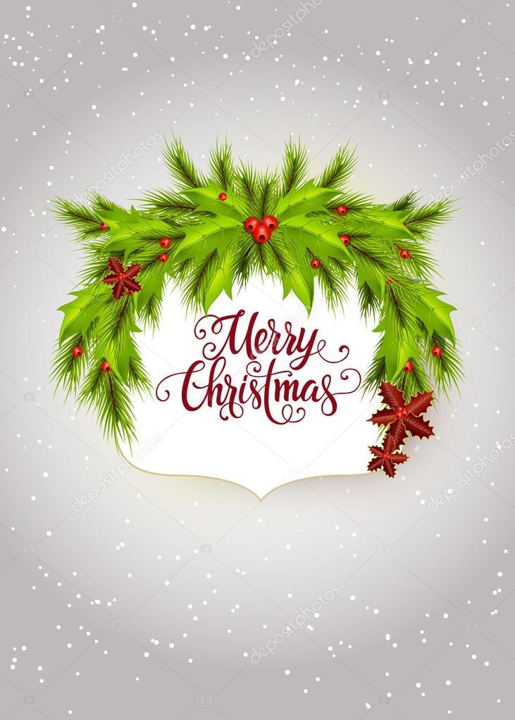 Letras de feliz Navidad en marco adornada — Archivo Imágenes ...