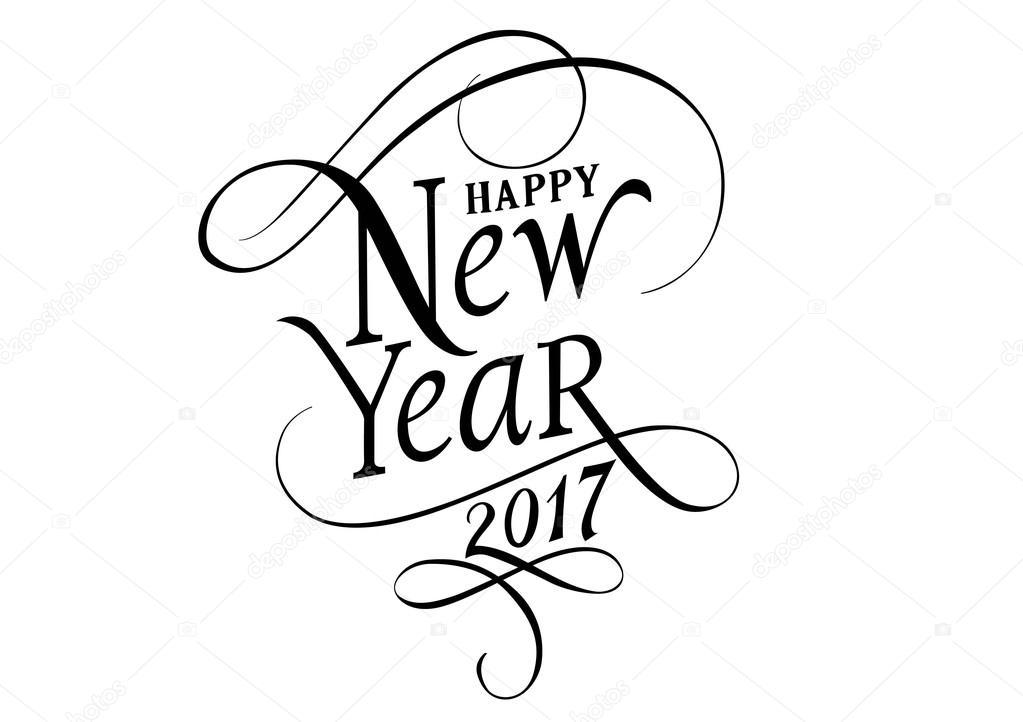 Gott nytt år 2017 bokstäver — Stock Vektor © surfsup ...