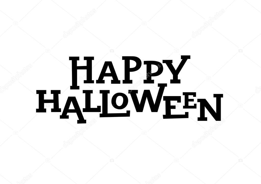 Happy Halloween Lettering Element Stock Vector C Surfsup Vector Gmail Com 122634828