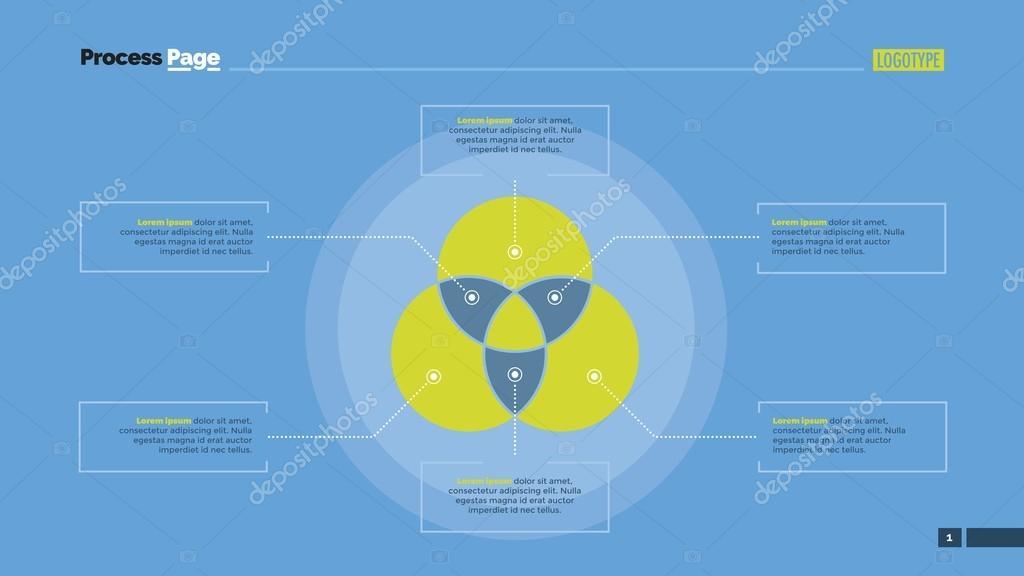 Three Circle Venn Diagram Slide Template Stock Vector Surfsup