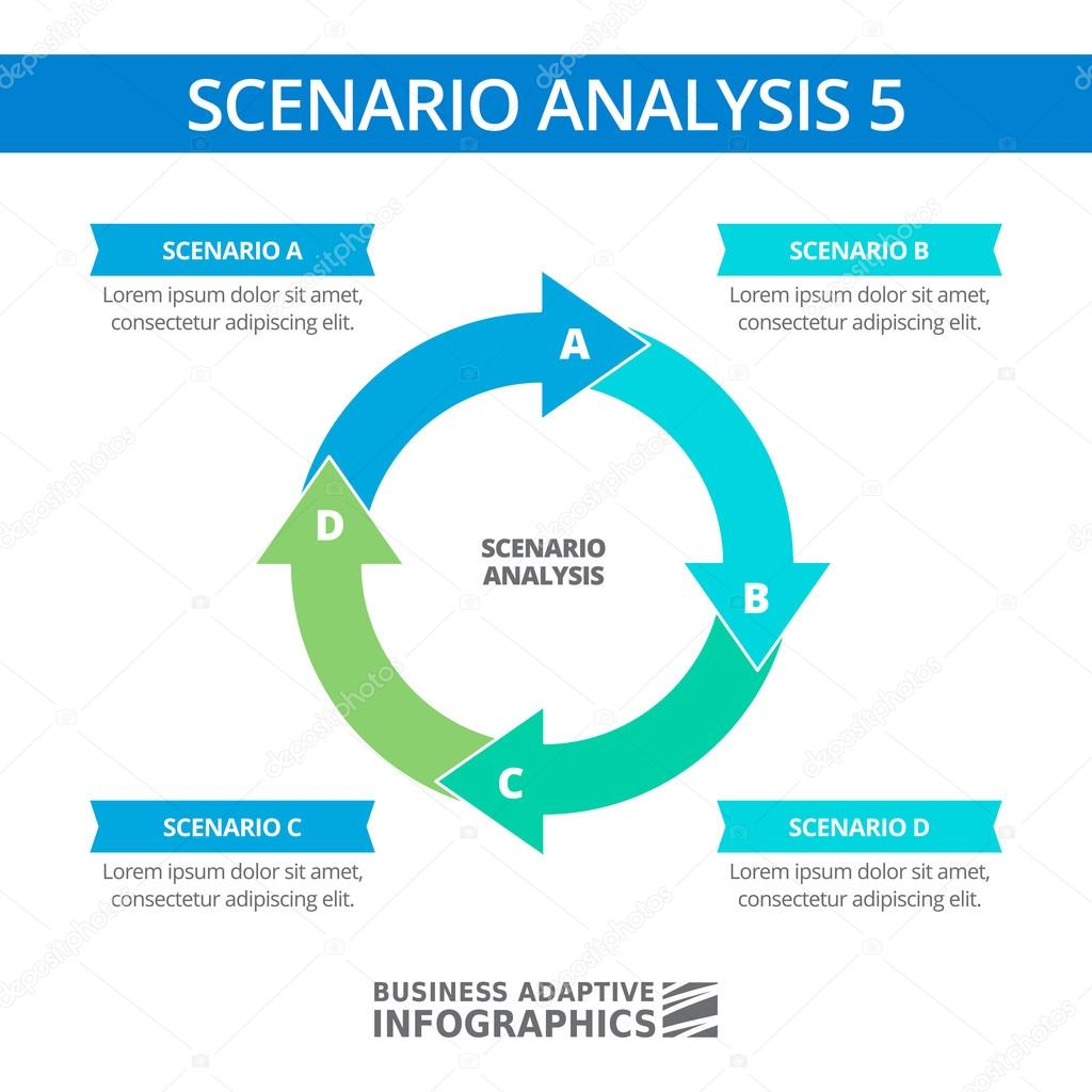 Scenario analysis round diagram template stock vector surfsup editable infographic template of scenario analysis round diagram vector by surfsupctorail friedricerecipe Image collections