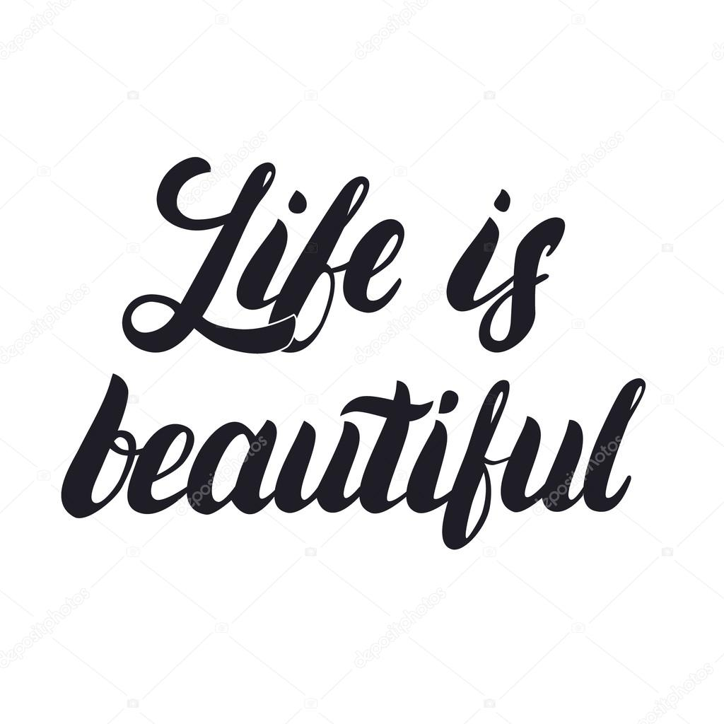 Life is beautiful hand lettering calligraphy phrase for greetings life is beautiful hand lettering calligraphy phrase for greetings cards and posters stock m4hsunfo
