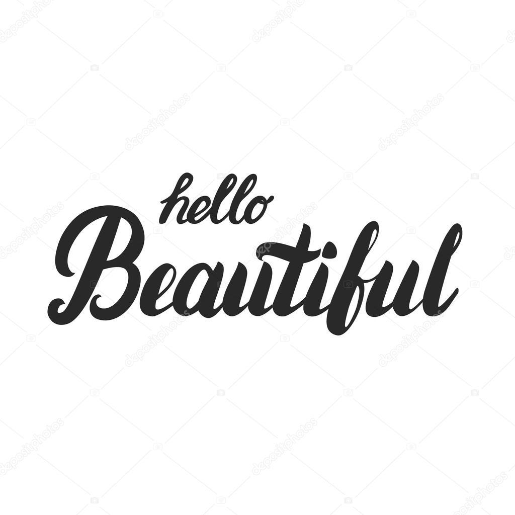 Witam Piękne Ręce Napis Kaligrafia Cytat Grafika Wektorowa