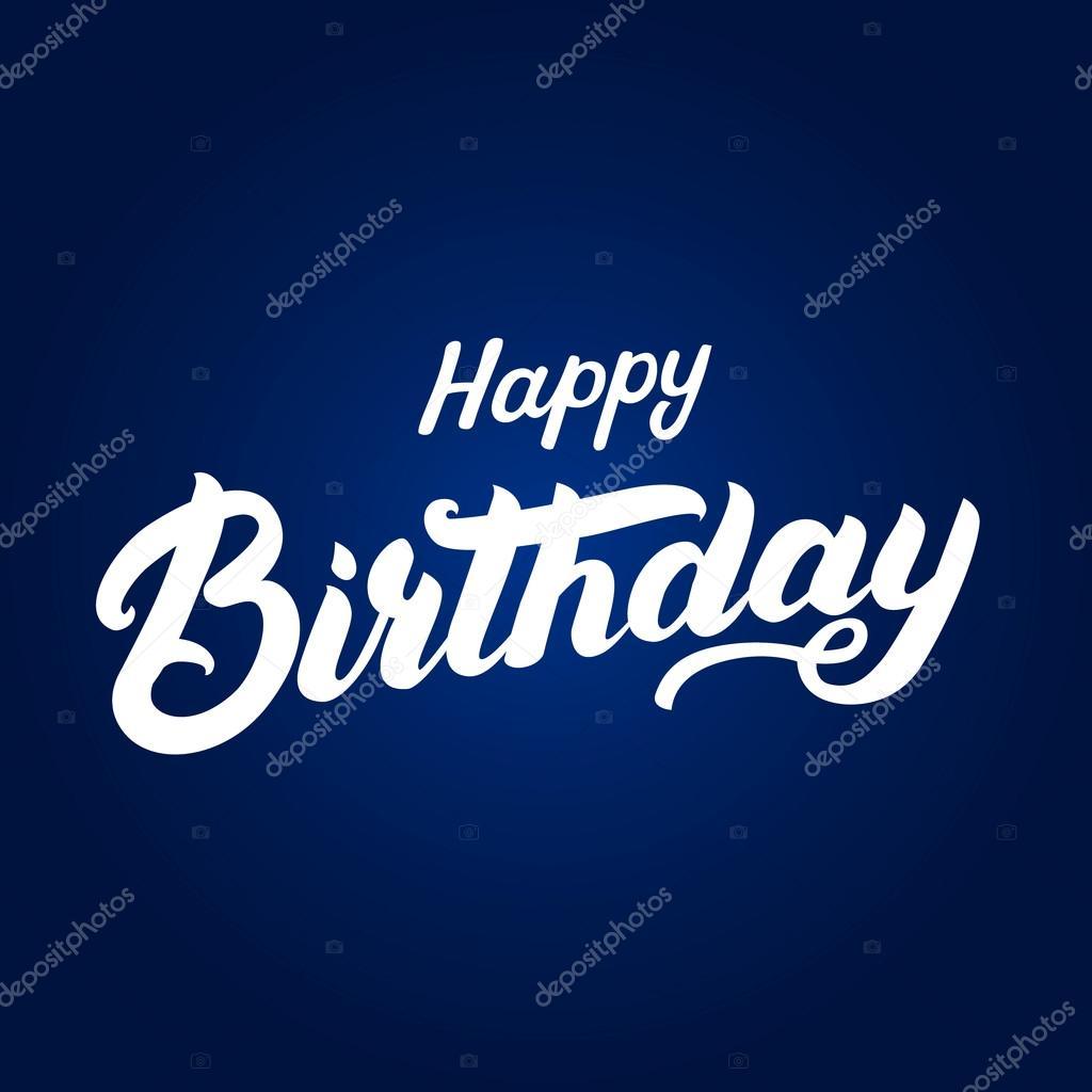 Mano Feliz Cumpleaños Escrita Letras Para Invitación Y