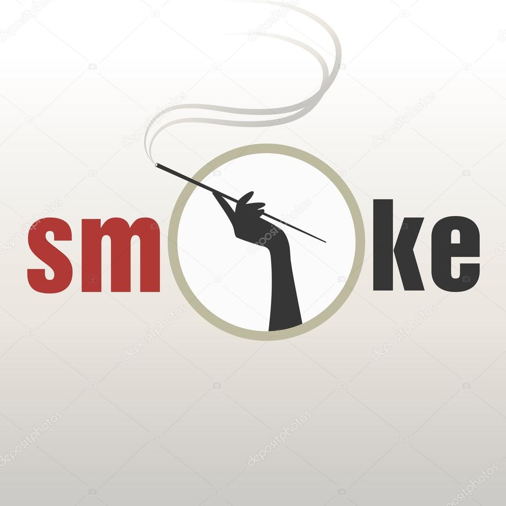 vintage style design logo smoked glamour stock vector