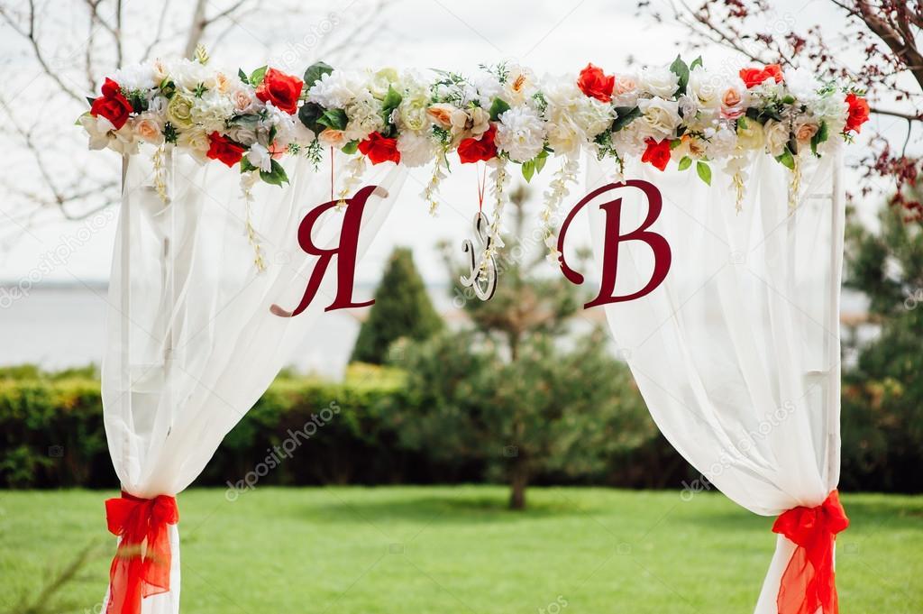 Arco de flores para casamento arco de boda blanco for Adornos para bodas con plantas