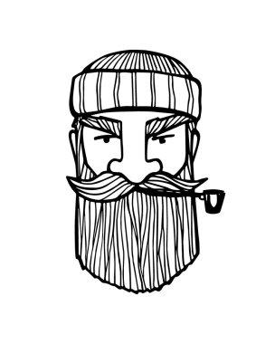 Male head illustration