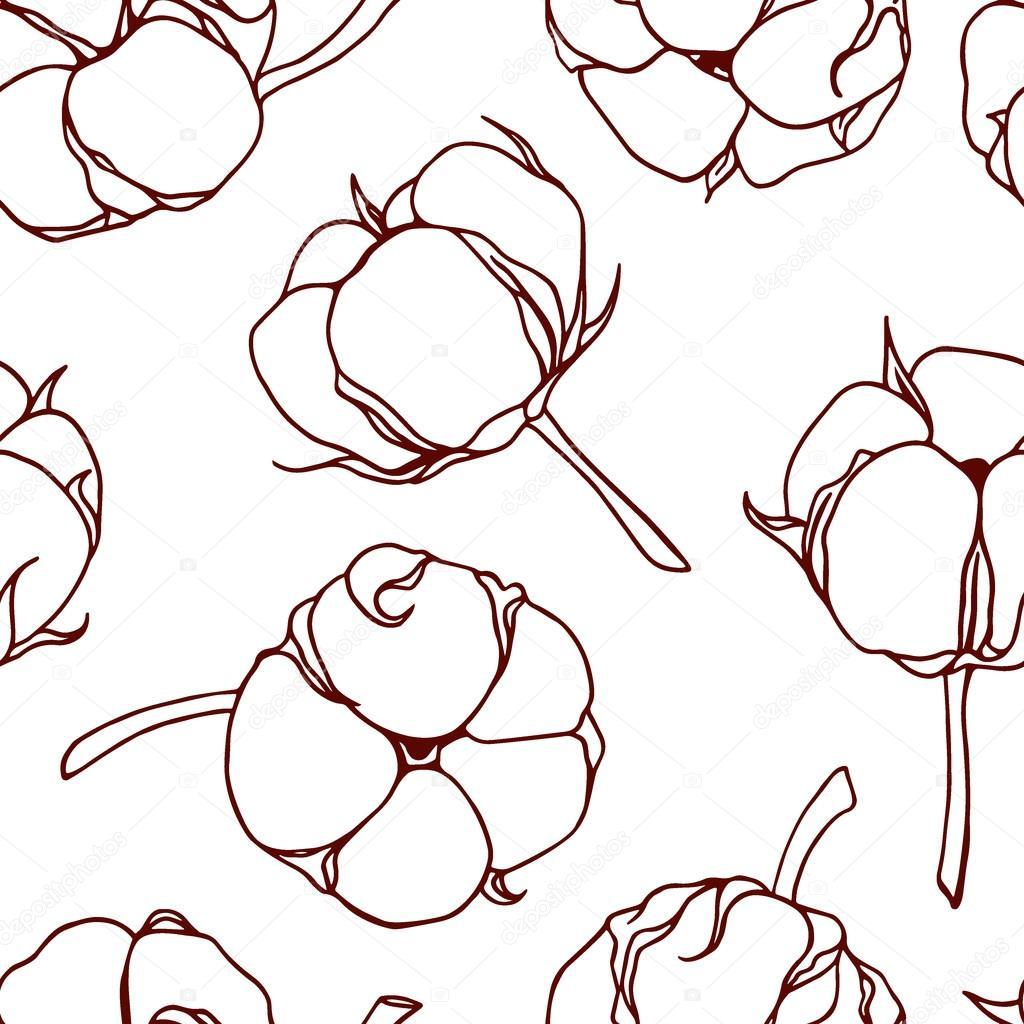 Dessin De Fleurs De Coton Image Vectorielle Ezhevica C 118601398