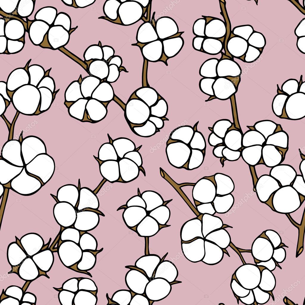 Dessin De Fleurs De Coton Image Vectorielle Ezhevica C 118601438