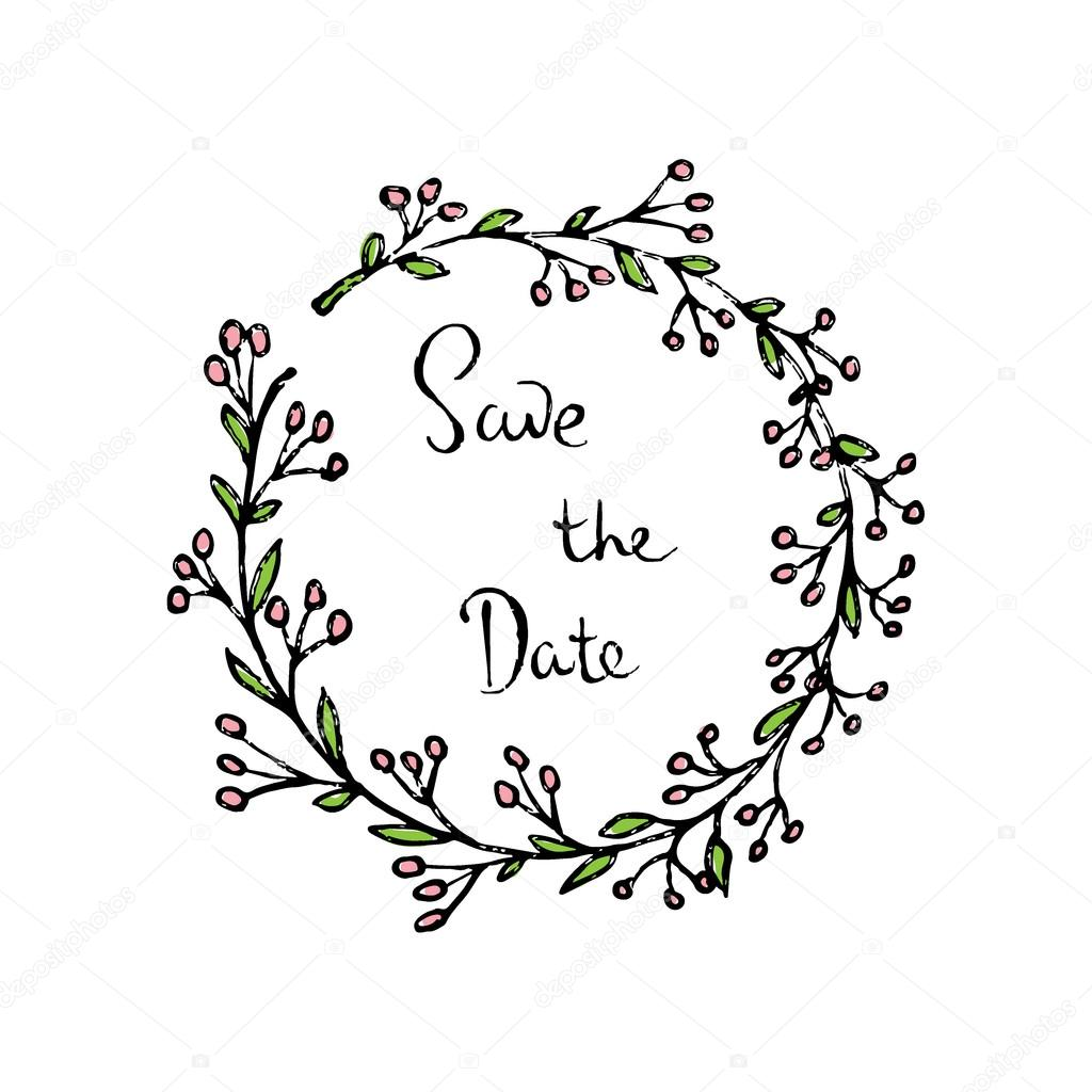 Wedding invitation graphics — Stock Vector © Ezhevica #98403538