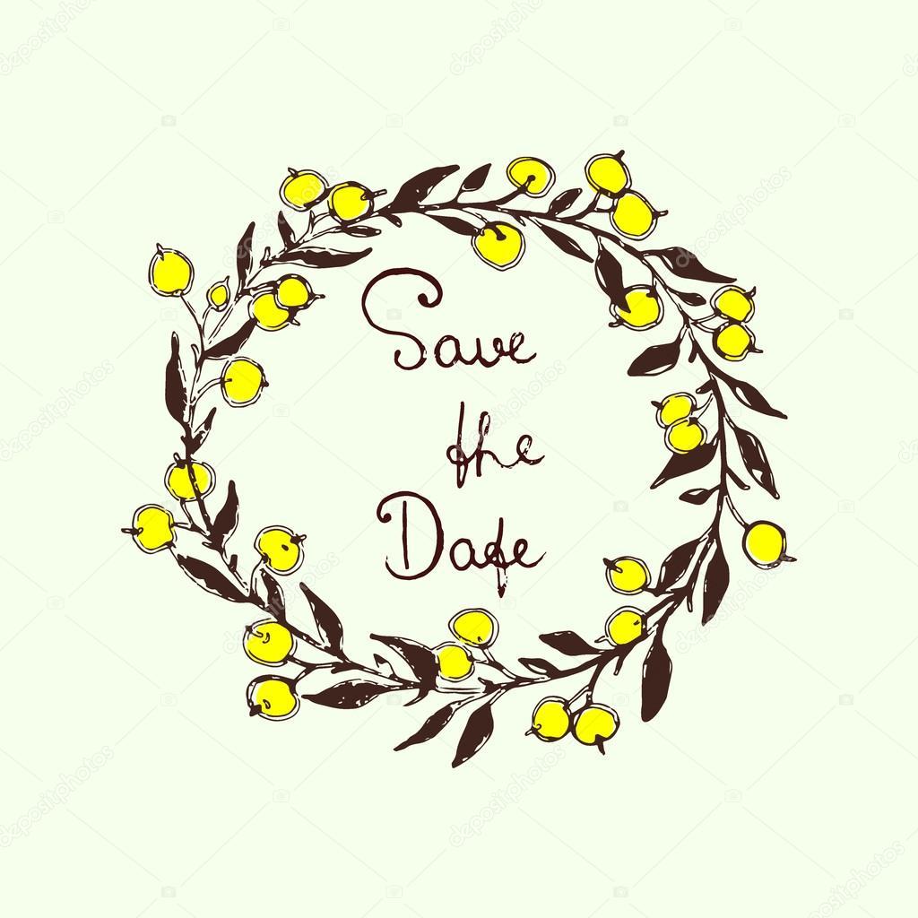 Wedding invitation graphics — Stock Vector © Ezhevica #98403542