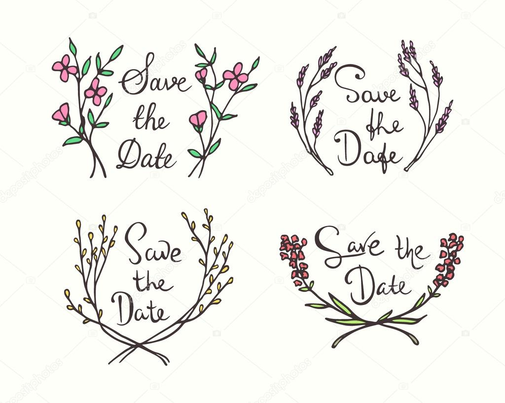 Wedding invitation graphics — Stock Vector © Ezhevica #98403546
