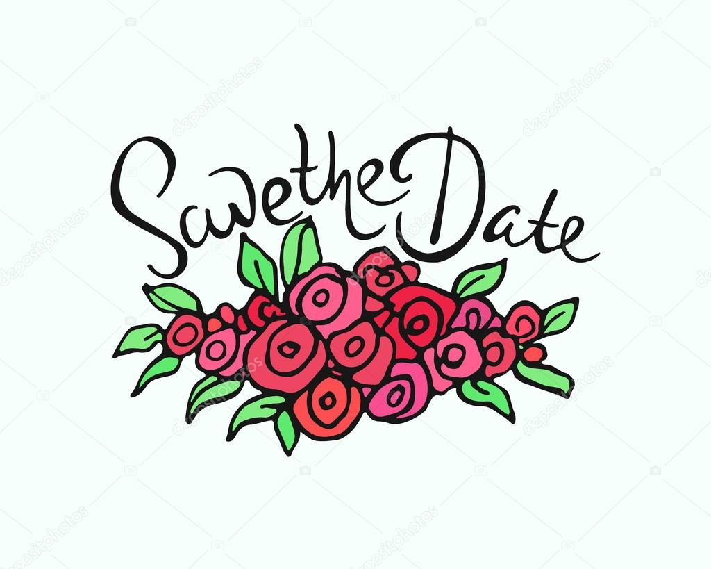 Wedding invitation graphics — Stock Vector © Ezhevica #98403548