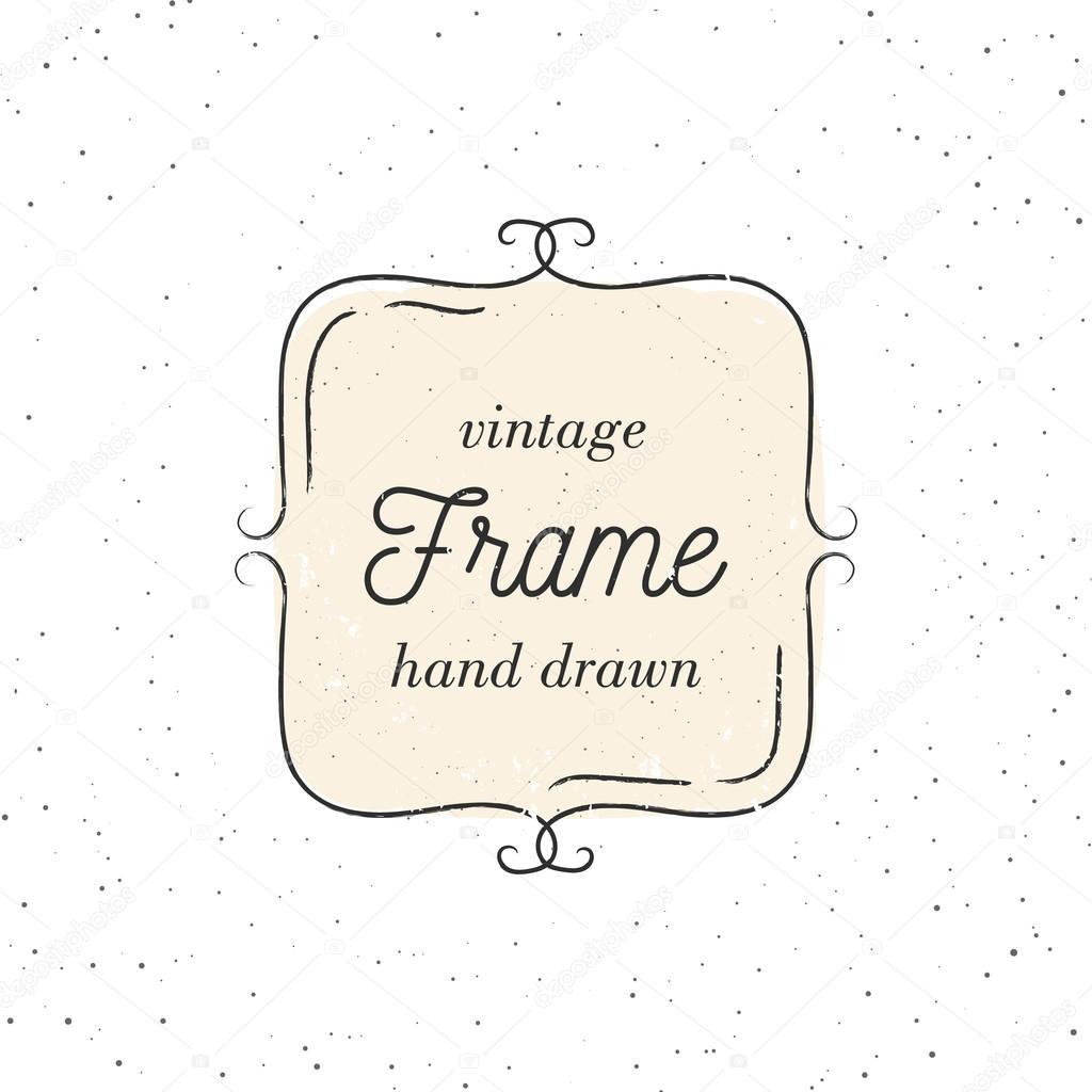 Vektor-Illustration des Jahrgang Frames auf dem Hintergrund Textur ...