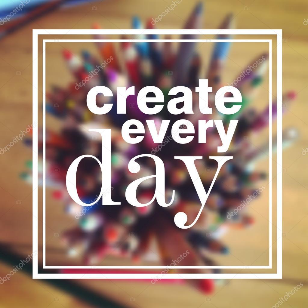 Vektor Motivation Plakat Erstellen Sie Jeden Tag Angebot