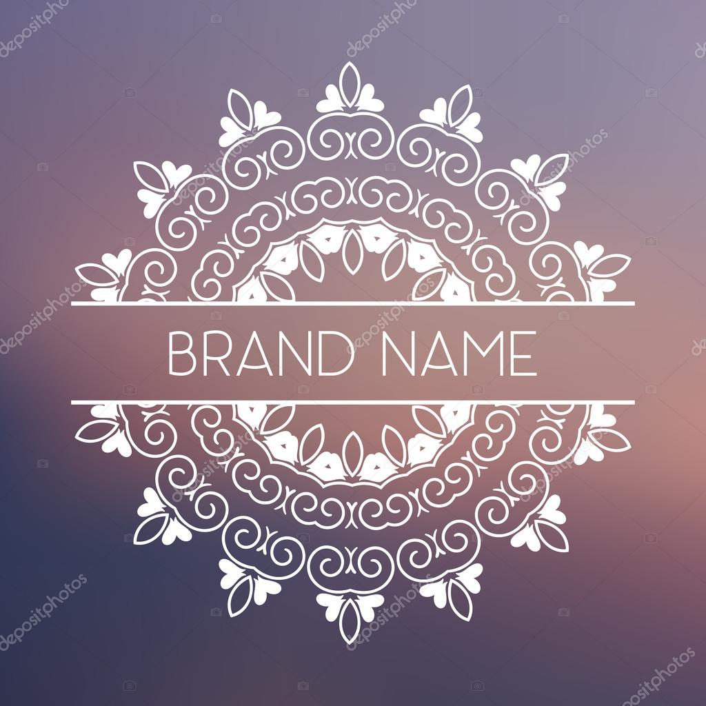 Vector logo template. Geometric mandala for business card ...