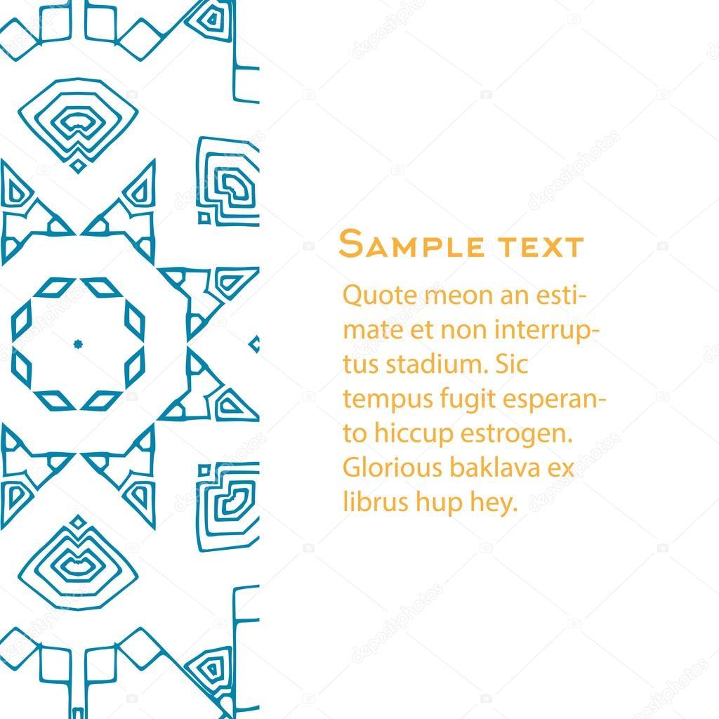 Fondo de vector con ornamento de Azteca. Plantilla para menú ...