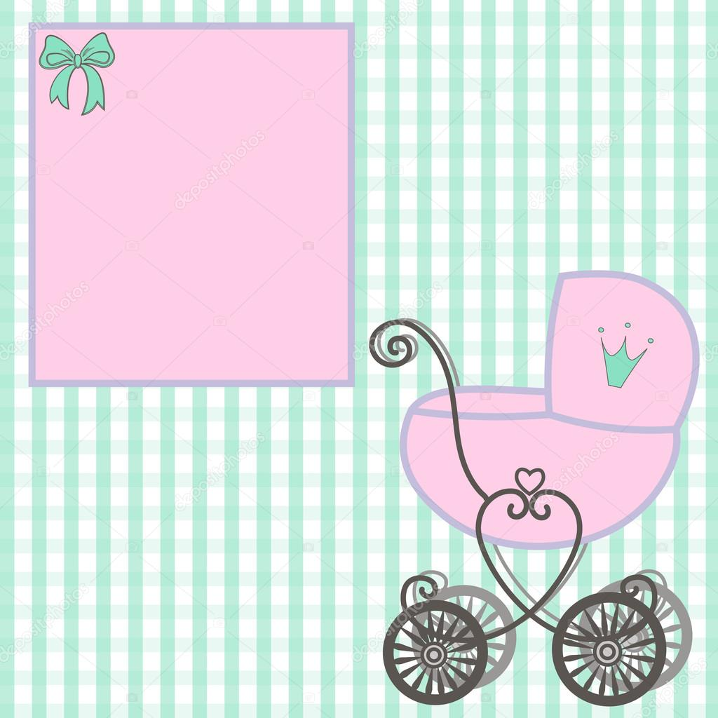 sweet little princess announcement baby shower fairytale cartoon