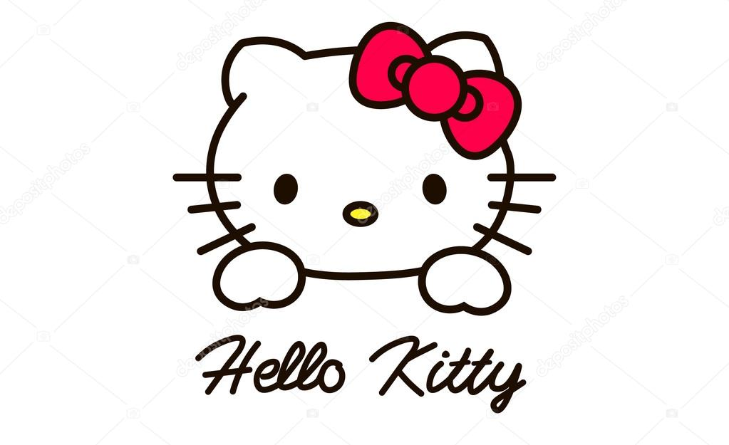 moscow russia march 23 2015 a logo hello kitty on pc