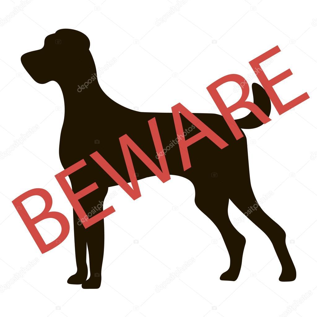 Beware Dogs Signs Vector Stock Vector Konevaelviragmailcom