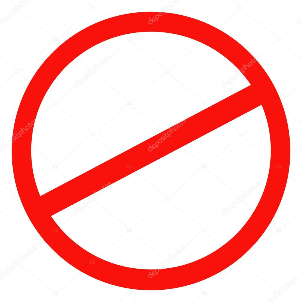 Sign Ban Prohibition No Sign No Symbol Not Allowed Isolated On