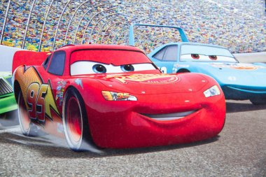 Sterlitamak, Russia - 07. 02. 2016: Disney Pixar CARS race show cartoon hero,  characters from Walt  movies.