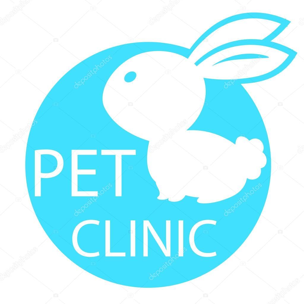 lapin marque la clinique v t rinaire la sant pour animaux de compagnie la silhouette blanche. Black Bedroom Furniture Sets. Home Design Ideas